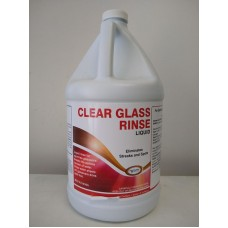 CLEAR GLASS RINSE - Liquid, for Spot Free Crystal - 4 Gallon Case