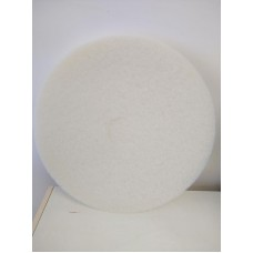 17 Inch Floor Pads - White - Case of 5